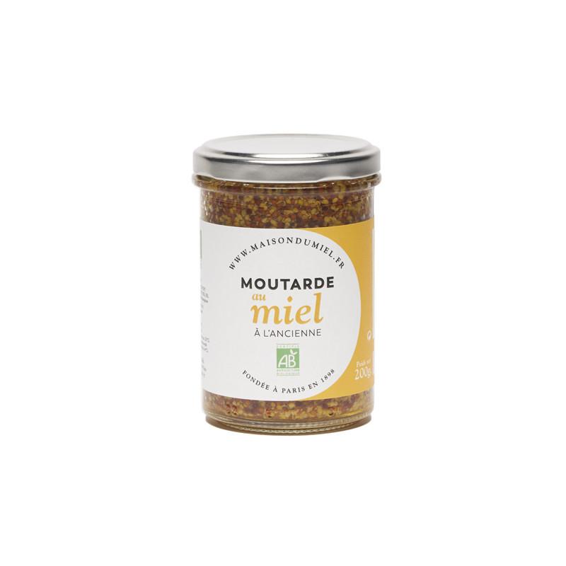 Moutarde à l'ancienne au miel BIO