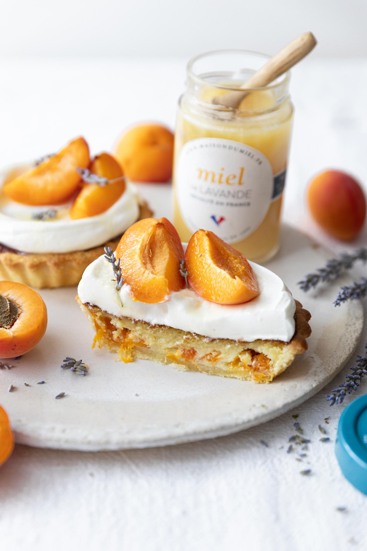 Tartelette abricot miel de lavande | La Maison du Miel