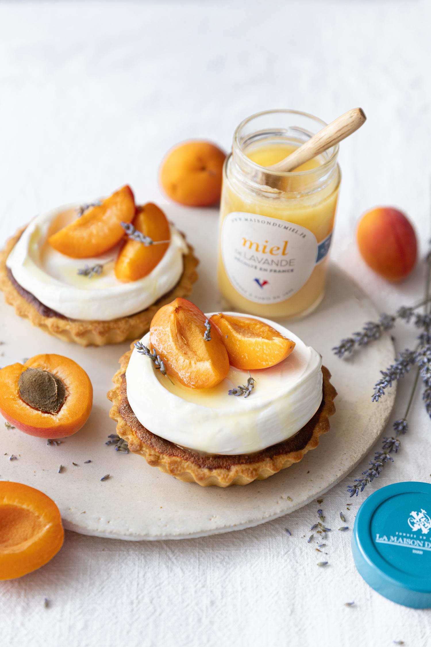 Tartelette abricot miel de Lavande    Maison du Miel